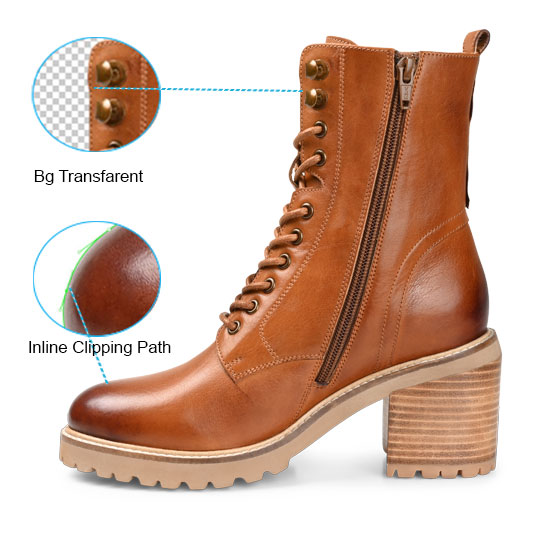 shooes images clipping path service with background transparent